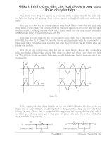 Giáo trình hướng dẫn các loại diode trong giao thức chuyển tiếp phần 1 ppsx