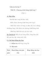 Giáo án tin học 9 Tiết 50 : Chương trình bảng tính là gì ? potx