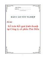 """Luận văn: """" Kế toán kết quả kinh doanh tại Công ty cổ phần Phú Diễn"""" potx"""