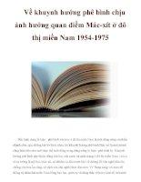 Về khuynh hướng phê bình chịu ảnh hưởng quan điểm Mác-xít ở đô thị miền Nam 1954-1975 doc