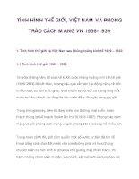 TÌNH HÌNH THẾ GIỚI, VIỆT NAM VÀ PHONG TRÀO CÁCH MẠNG VN 1936-1939_1 ppt