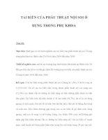 TAI BIẾN CỦA PHẪU THUẬT NỘI SOI Ổ BỤNG TRONG PHỤ KHOA docx