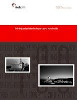 holcim 100 years of strength performance passion third quarter interim report 2012 holcim ltd