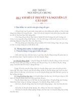 CƠ SỞ LÝ THUYẾT VÀ NGUYÊN LÝ CẮT GỌT KIM LOẠI part 1 ppsx