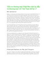 Tiền xu thương mại Nhật Bản thời kỳ đầu và thương mại với Việt Nam thế kỷ 17 ppsx