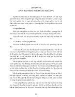 PHƯƠNG PHÁP LUẬN NGHIÊN CỨU KHOA HỌC PHẦN 6 pdf