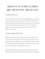 TRÀO LƯU TƯ TƯỞNG VÀ TRIẾT HỌC THẾ KỶ XVII_2 pptx