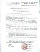 TỔNG CÔNG TY CN XI MĂNG VIỆT NAM CTY CP XI MĂNG VICEM HOÀNG MAI công bố thông tin trong thời hạn 24 giờ năm 2014
