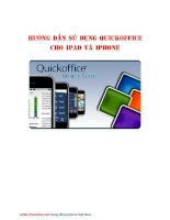 Hướng dẫn sử dụng Quickoffice cho Ipad và Iphone potx
