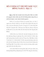 ĐỀ CƯƠNG LÝ THUYẾT KHU VỰC ĐÔNG NAM Á - ĐỊA 12_1 doc