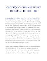 CÁC CUỘC CÁCH MẠNG TƯ SẢN Ở CHÂU ÂU TỪ 1830 - 1848_1 pps