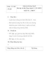 Giáo án tin học lớp 8 - Bài tập & Bài Thực hành 5 CÂU ĐIỀU KIỆN IF ...THEN potx