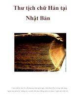 Thư tịch chữ Hán tại Nhật Bản pptx