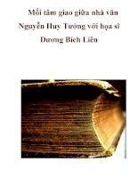Mối tâm giao giữa nhà văn Nguyễn Huy Tưởng với họa sĩ Dương Bích Liên pot