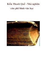 Kiều Thanh Quế - Nhà nghiên cứu phê bình văn học pps