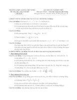 đề thi thử tốt nghiệp thpt môn toán - thpt lương thế vinh đề (10)