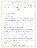 MỘT SỐ BIỆN PHÁP ĐẢM BẢO VỆ SINH AN TOÀN THỰC PHẨM TRONG MẦM NON CÓ TỔ CHỨC BÁN TRÚ pps