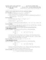 đề thi thử tốt nghiệp thpt môn toán - thpt lương thế vinh đề (11)