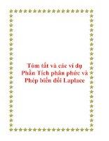 Tóm tắt và các ví dụ Phần Tích phân phức và Phép biến đổi Laplace