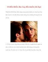10 điều khiến đàn ông đều muốn yêu bạn pps