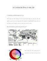 SUY DINH DƯỠNG Ở TRẺ EM ppsx