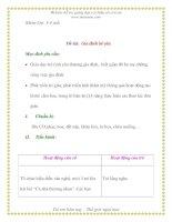 Giáo án chương trình mới: Lớp lá Đề tài: Gia đình bé yêu ppt