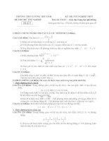 đề thi thử tốt nghiệp thpt môn toán - thpt lương thế vinh đề (20)