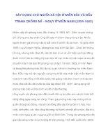 XÂY DỰNG CHỦ NGHĨA XÃ HỘI Ở MIỀN BẮC VÀ ĐẤU TRANH CHỐNG MĨ – NGỤY Ở MIỀN NAM (1954-1965)_4 doc