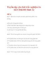 Tuyển tập câu hỏi trắc nghiệm ôn thi CD&DH Sinh 12 ĐỀ 6 doc