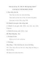 Giáo án tin học 10 - Tiết 29: Bài tập thực hành 3 LÀM QUEN VỚI HỆ ĐIỀU HÀNH ppsx