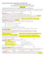 Hướng dẫn giải đề thi tuyển sinh Đại học môn hóa năm 2011 ppsx
