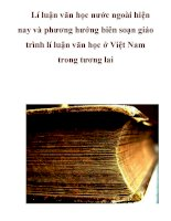 Lí luận văn học nước ngoài hiện nay và phương hướng biên soạn giáo trình lí luận văn học ở Việt Nam trong tương lai pdf