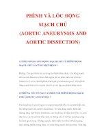 PHÌNH VÀ LÓC ĐỘNG MẠCH CHỦ (AORTIC ANEURYSMS AND AORTIC DISSECTION) pot
