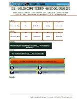 Đề thi IOE cấp huyện lớp 9