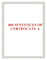 400 SENTENCES OF CERTIFICATE A ppsx