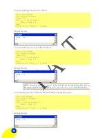 Giáo trình hướng dẫn sử dụng các chương trình thiết kế công trình giao thông bằng VBA phần 10 ppsx