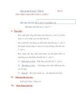 Giáo án đại số lớp 6 - Tiết 23 DẤU HIỆU CHIA HẾT CHO 3 ; CHO 9 pot