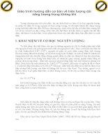 Giáo trình hướng dẫn cơ bản về hiện tượng dải năng lượng trong không khí phần 1 pdf