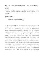 SỰ CHI VIỆN, GIÚP đỡ của LIÊN xô với VIỆT NAM TRONG CUỘC KHÁNG CHIẾN CHỐNG mỹ, cứu nước (1954 1975) (PGS TS lê văn THỊNH)