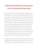 MIỀN BẮC VỚI CHIẾN TRANH PHÁ HOẠI LẦN THỨ I & SỰ NGHIỆP XÂY DỰNG CNXH_3 doc