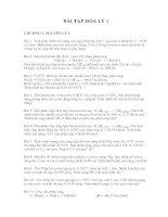 BÀI TẬP HÓA LÝ 1 CHƯƠNG 1. NGUYÊN LÝ 1 Bài 1. Tính biến thiên nội năng của quá doc