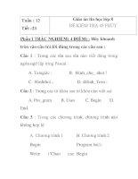 Giáo án tin học lớp 8 - ĐỀ KIỂM TRA 45 PHÚT pdf