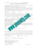 Bài giải chi tiết đề thi tuyển sinh đại học môn Vật Lý 2011 doc