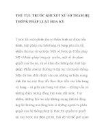 THỦ TỤC TRƯỚC KHI XÉT XỬ SƠ THẨM HỆ THỐNG PHÁP LUẬT HOA KỲ pptx
