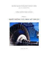 Giáo trình nhiệt động lực học kyc thuật - Chương 1 pps