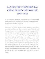 CẢ NƯỚC TRỰC TIẾP CHIẾN ĐẤU CHỐNG ĐẾ QUỐC MĨ XÂM LƯỢC (1965 - 1973)_4 ppt
