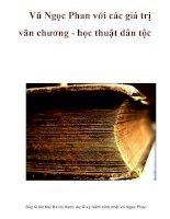 Vũ Ngọc Phan với các giá trị văn chương - học thuật dân tộc pot