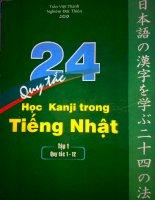 24 Quy tắc học Kanji trong Tiếng Nhật - Tập 1 ppsx