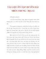 TÀI LIỆU ÔN TẬP DUYÊN HẢI MIỀN TRUNG - ĐỊA 12_2 pptx