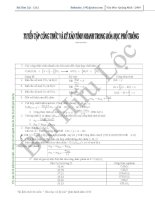 Tuyển tập các công thức và kỹ xảo tính nhanh trong hóa học phổ thông pptx